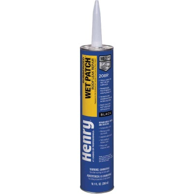 Henry Wet Patch 10.1 Oz. Rubberized Roof Cement and Patching Sealant