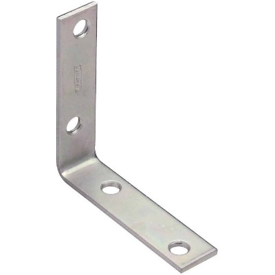 National Catalog V115 3 In. x 3/4 In. Zinc Steel Corner Brace (4-Count)