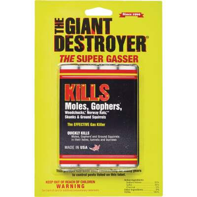 Atlas Giant Destroyer 4-Pack Gas Cartridges Mole & Gopher Killer