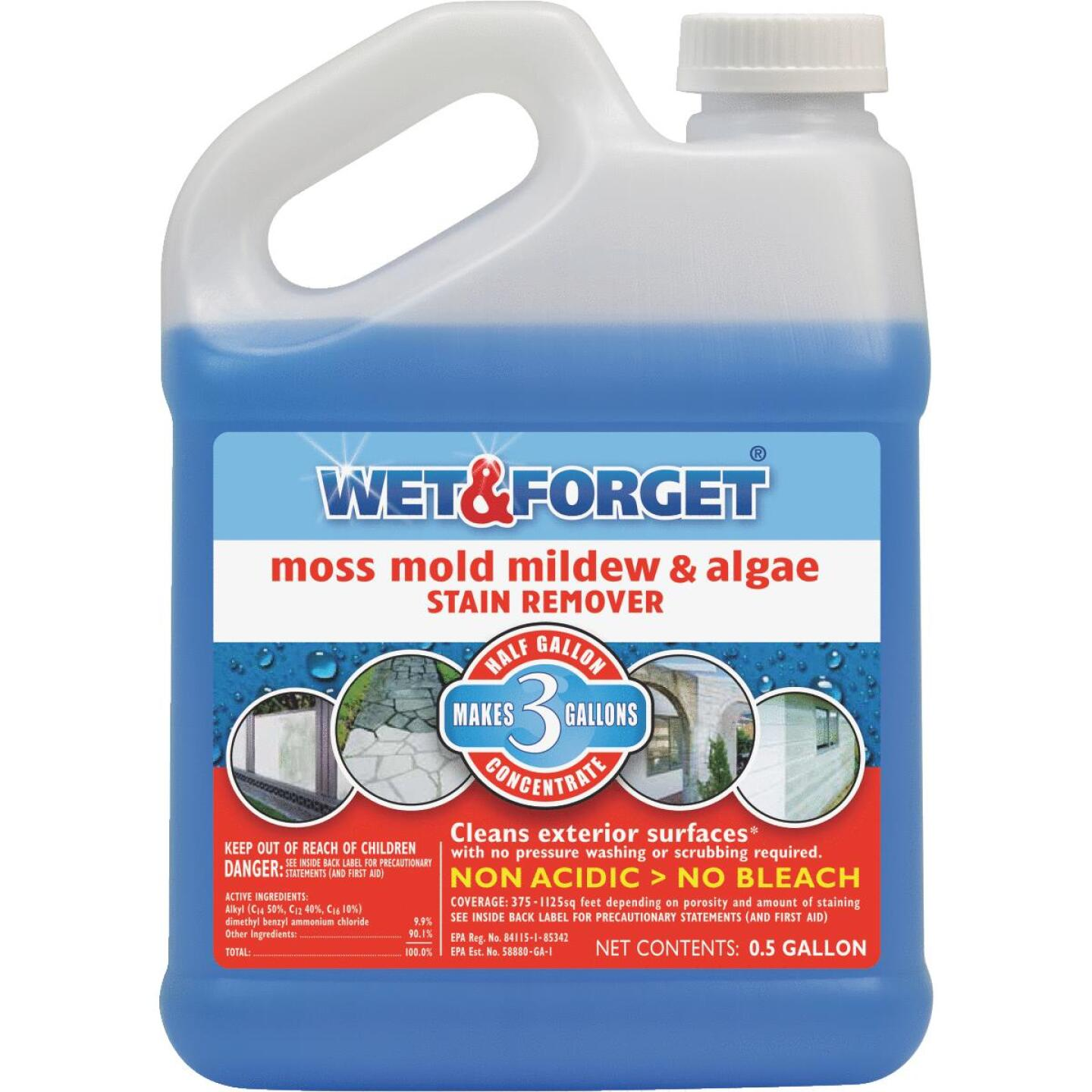 Wet & Forget 1/2 Gal. Liquid Concentrate Moss, Mildew, Algae, & Mold Stain Remover Image 1