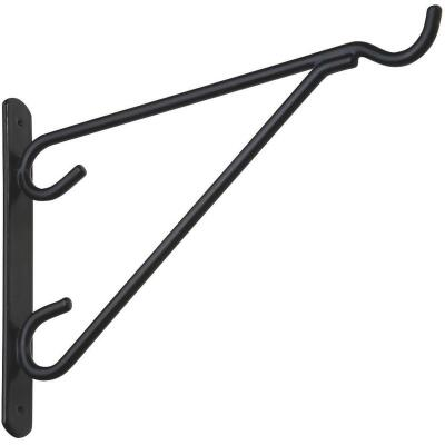 National 12 In. Black Vinyl-Coated Steel Plant Hanger Bracket